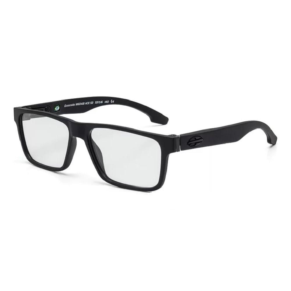 Óculos de grau mormaii oceanside preto fosco com preto