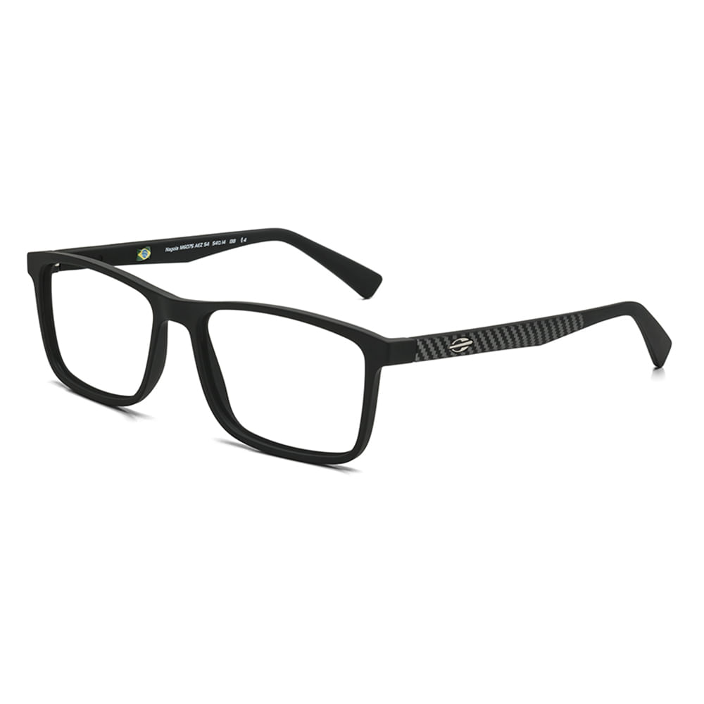 Óculos de grau mormaii nagoia preto fosco cinza