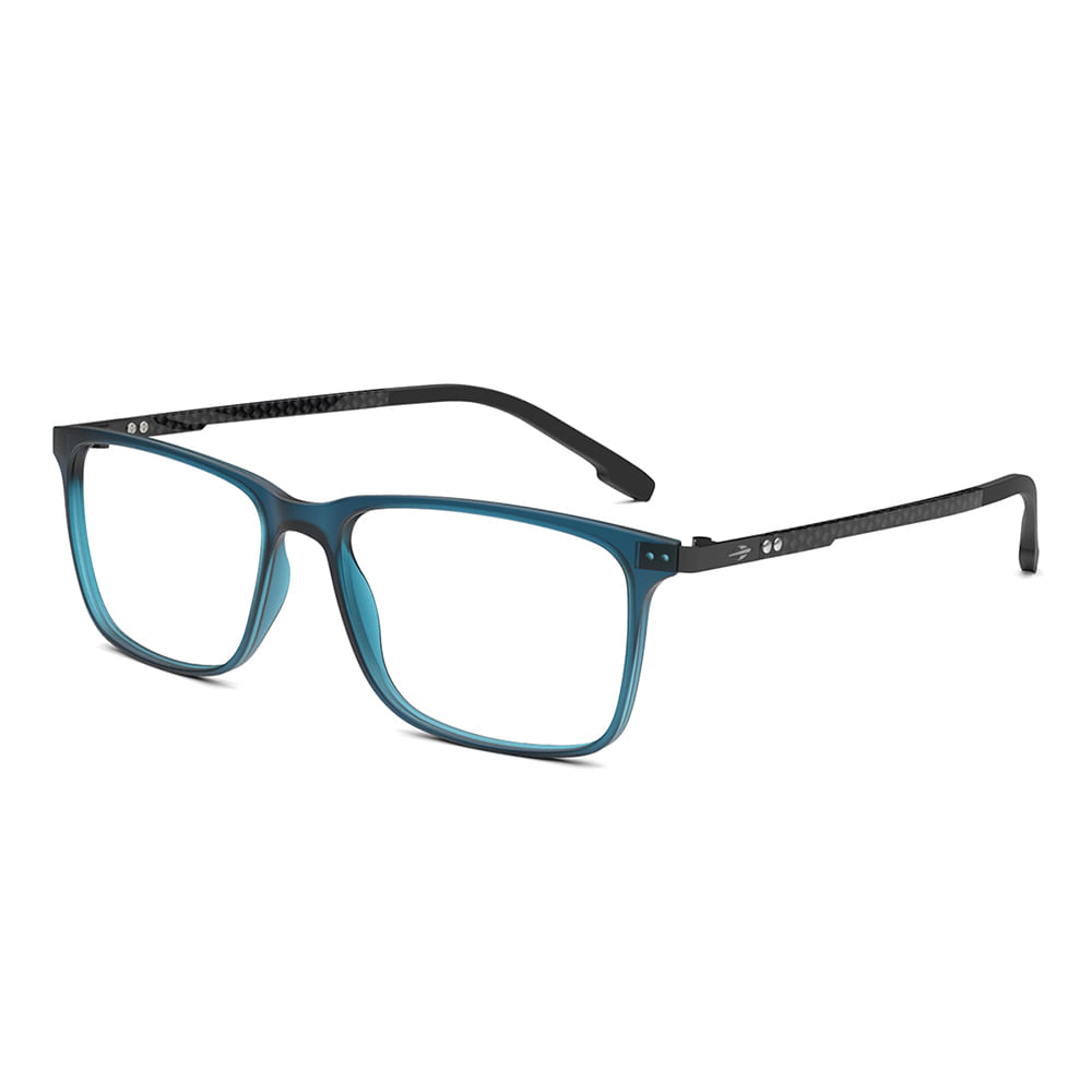 Óculos de grau mormaii argel azul escuro translucido