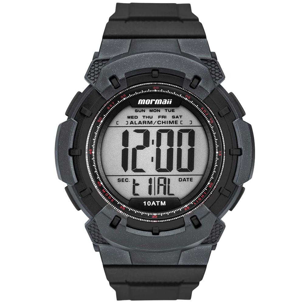 Relógio digital mormaii masculino wave preto mo3571/8r