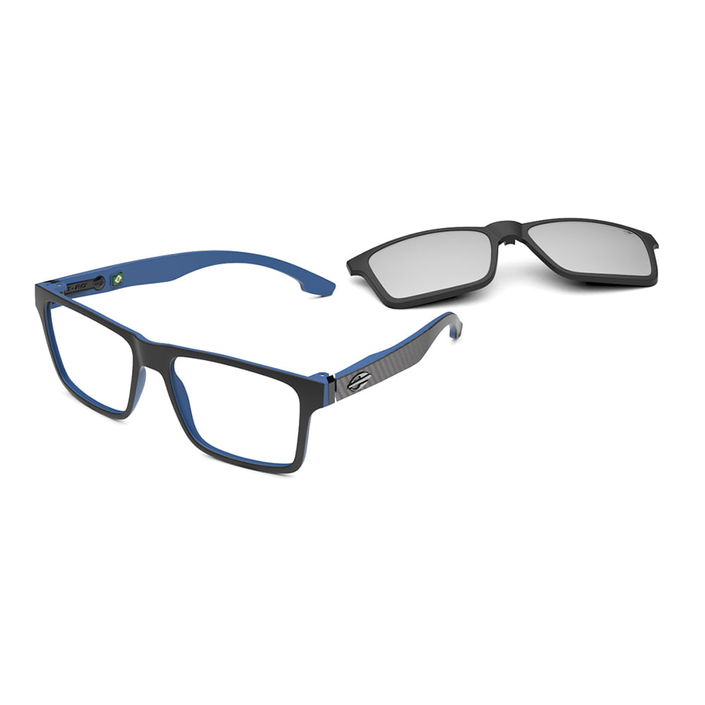 Óculos de grau mormaii swap ng preto parede azul fosco