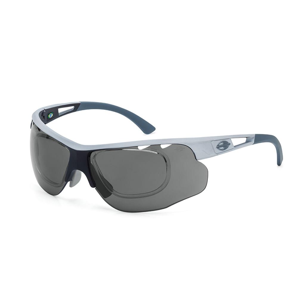 Óculos de sol mormaii eagle branco fosco lente cinza espelhado