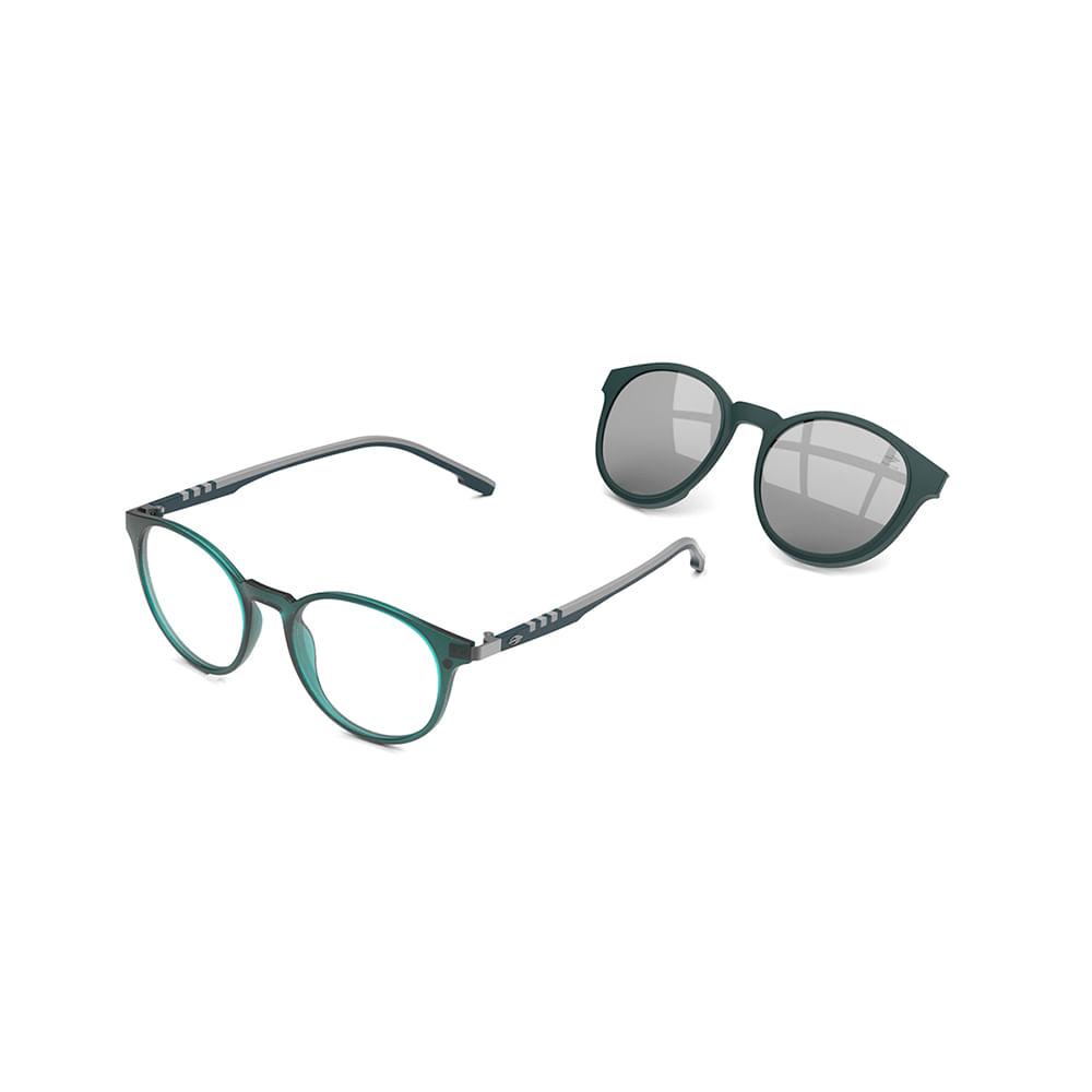 Óculos de grau mormaii swap 2 petróleo fosco translucido