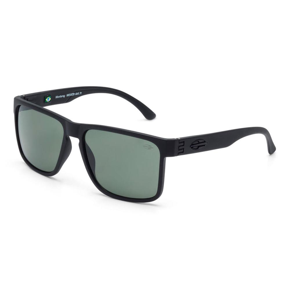 Óculos de sol mormaii monterey preto fosco lente verde