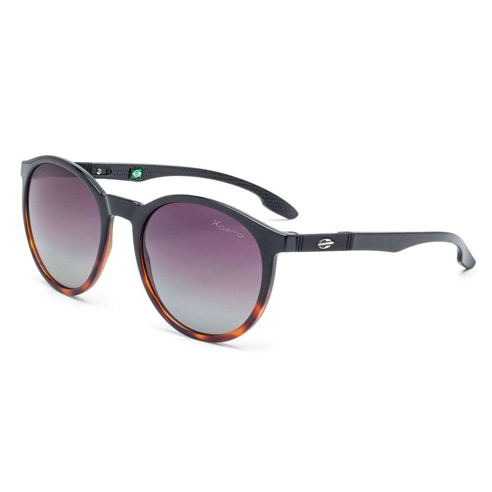 Óculos de sol mormaii maui preto brilho com demi marrom