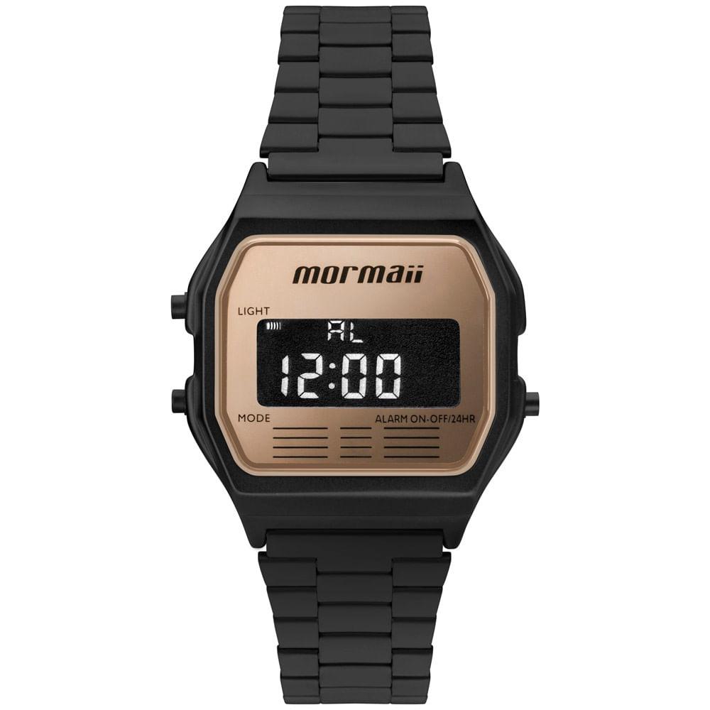 6c47c241e023e Relógio Mormaii Unissex Maui Vintage Preto - MOJH02AO 4J - mormaiishop