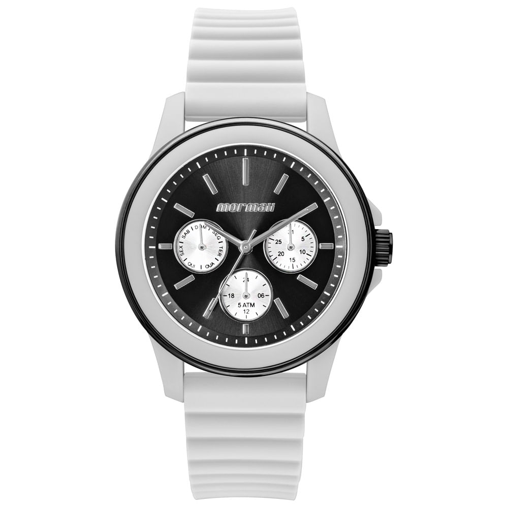 Relógio Mormaii Feminino Maui Luau Preto - MO6P29AH 8P - mormaiishop 9dc8ea0506