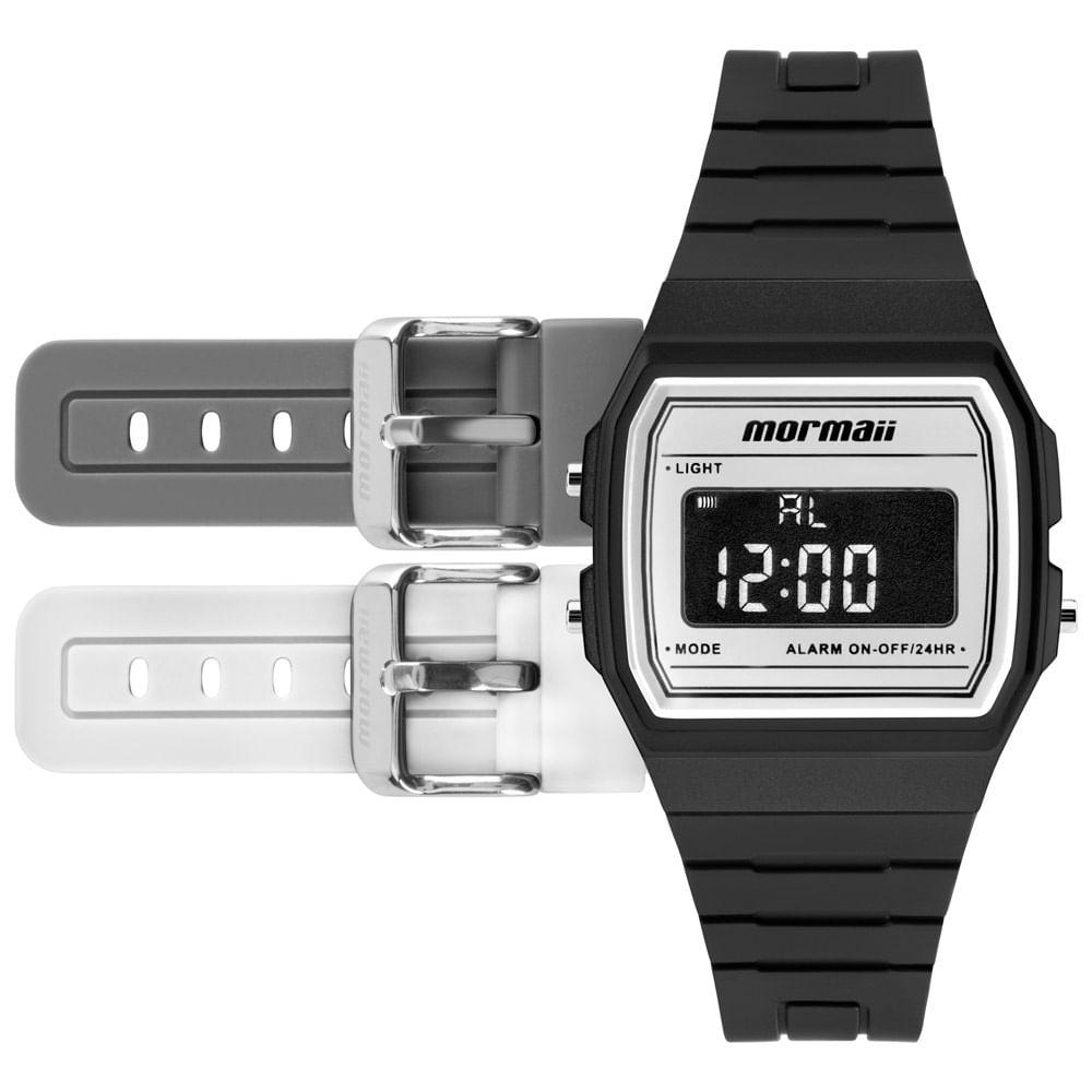 6865b4fbc836f Relógio Mormaii Unissex Maui Vintage Não Definido - MOJH02AM 4B ...