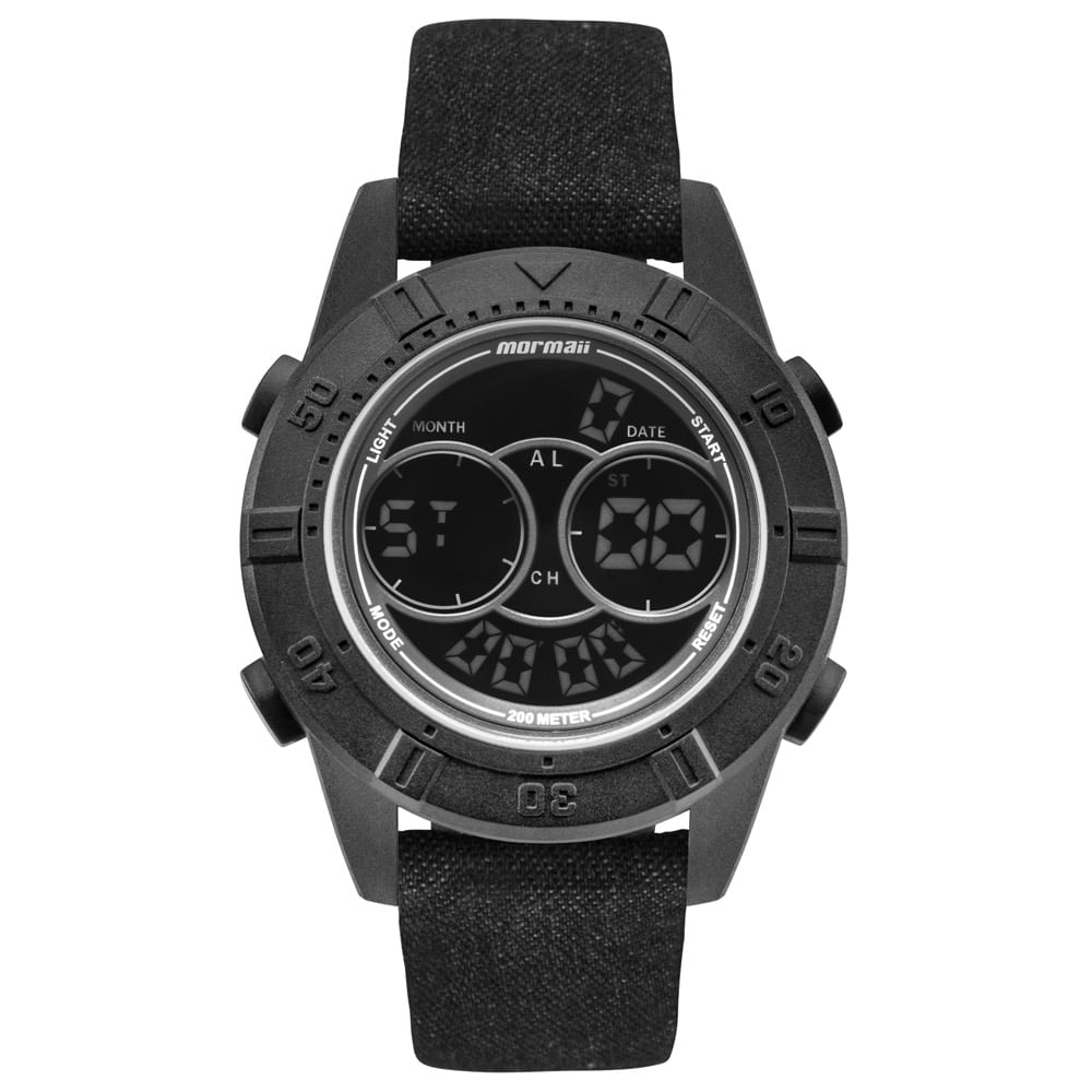 Relógio Mormaii Masculino Acqua Action Preto - MO150915AH 2P ... 490d4150c5