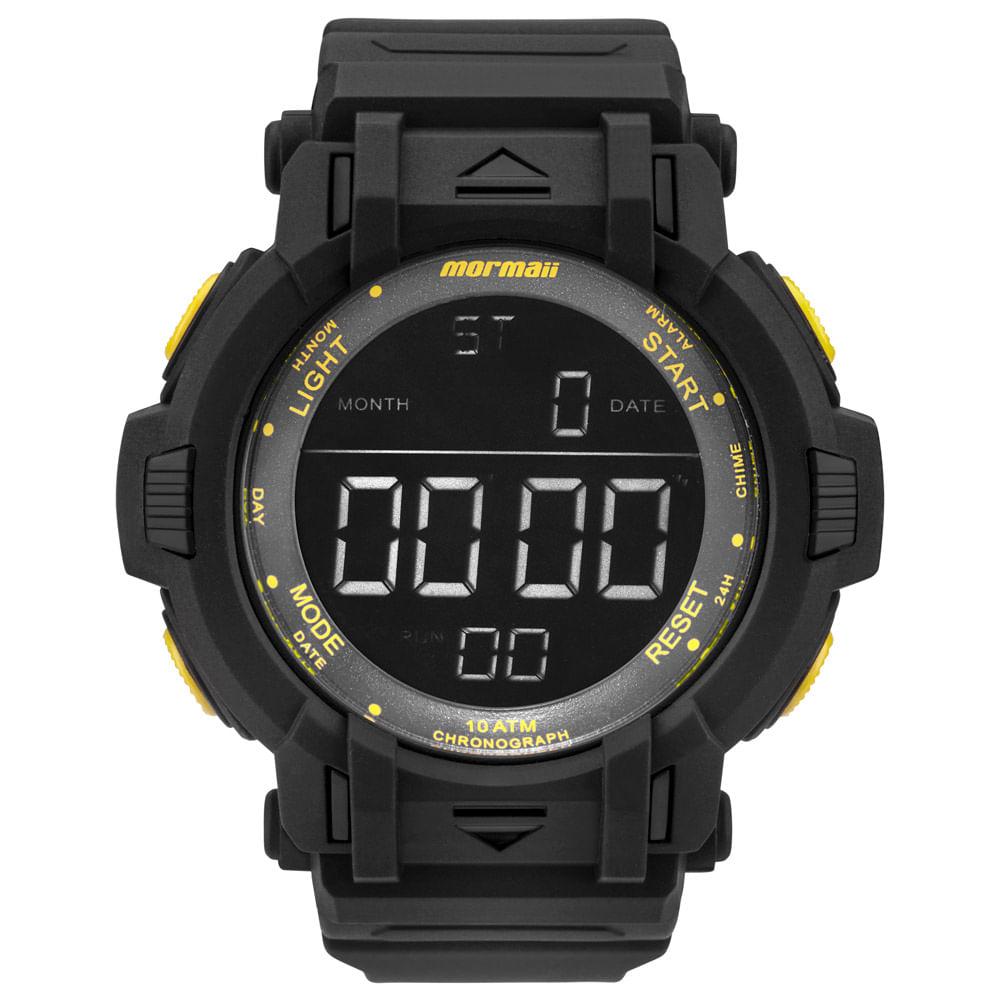 Relógio Mormaii Masculino Acqua Action Preto - MOM08111C 8Y - mormaiishop d4f8c37bb6