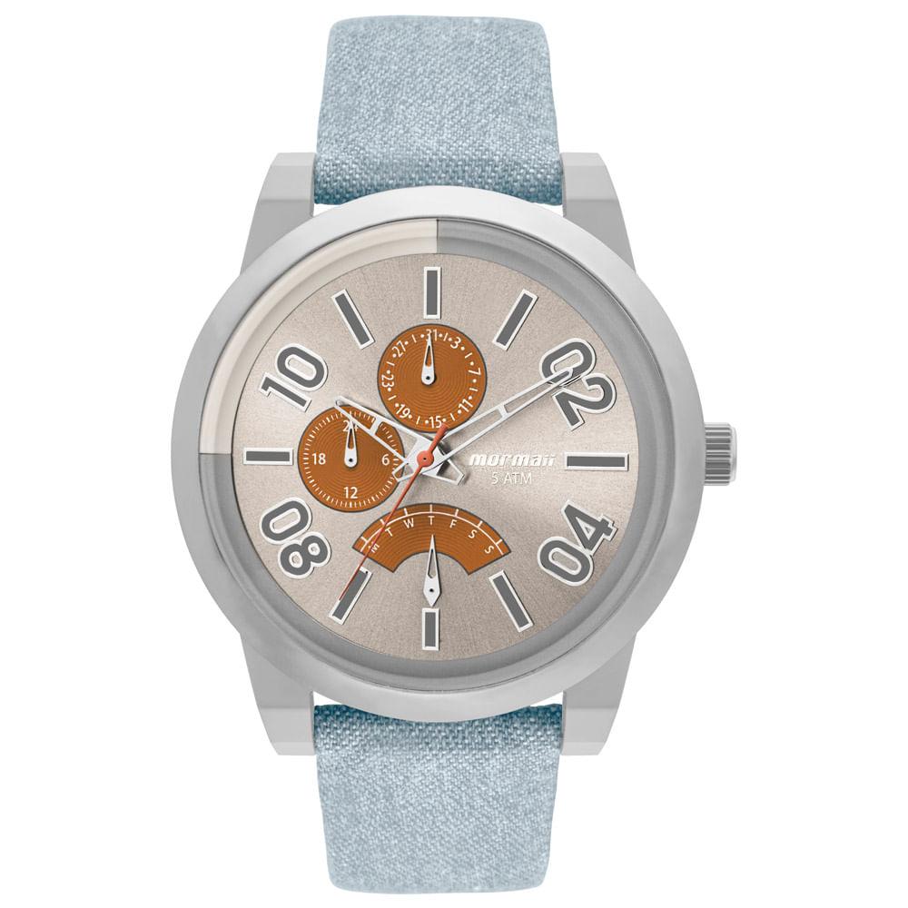 Relógio Mormaii Masculino On The Road Urban Prata - MOJR10AC 2L ... d25bfc090e