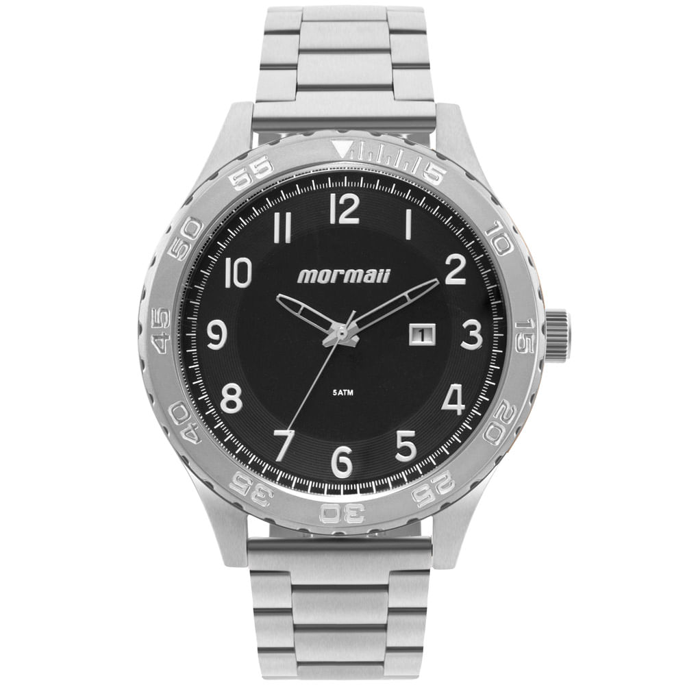 Relógio Morm Masculino El Basic Prata - MO2115BA 1P - mormaiishop 0bb437d609