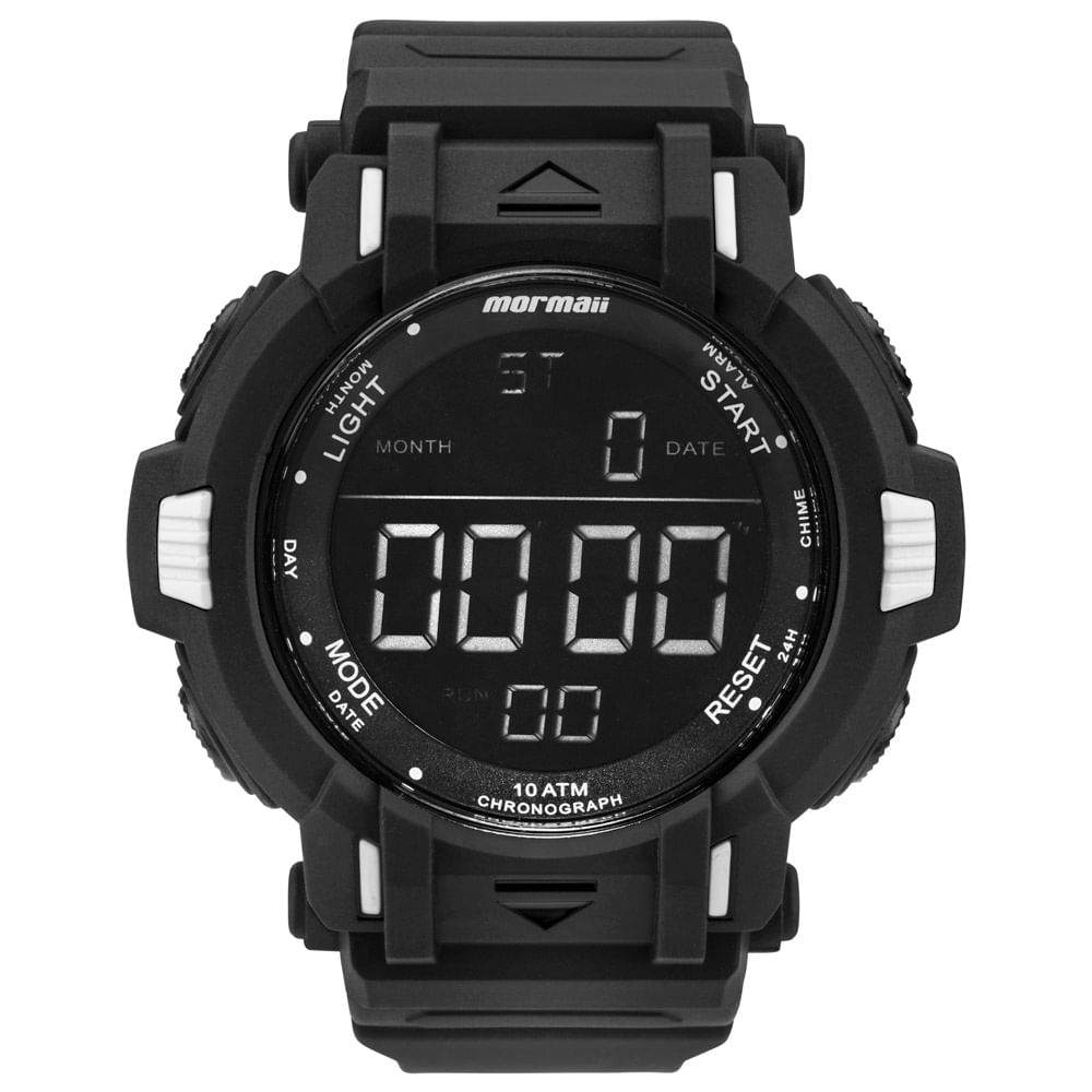 Relógio Mormaii Masculino Acqua Action Preto - MOM08111 8P - mormaiishop 9b70f23bbf