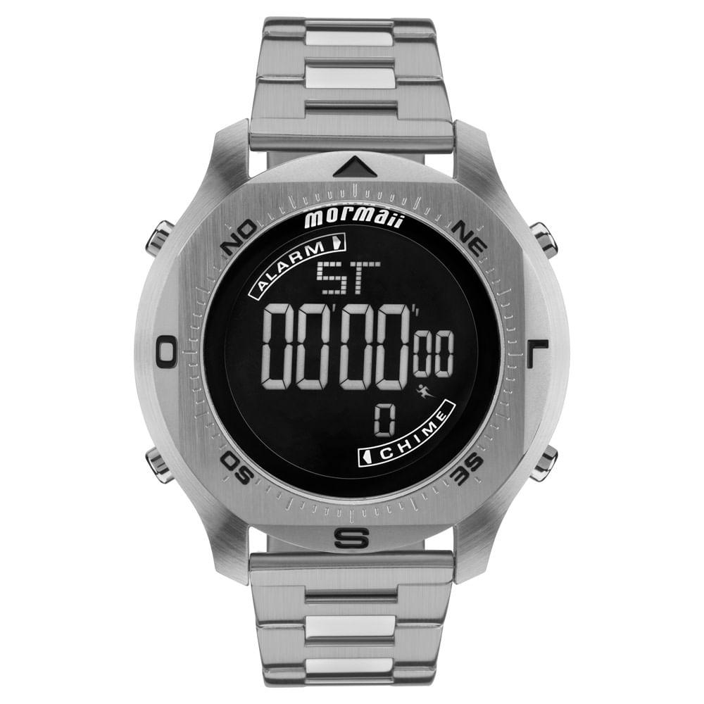 4bdd5597df Relógio Mormaii Masculino Acqua Pro Prata - MO11273C 1P - mormaiishop