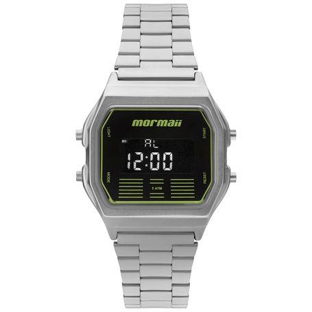 12592d8932d Relógio Mormaii Unissex Vintage Prata - MOBJ3715B 3P - mormaiishop