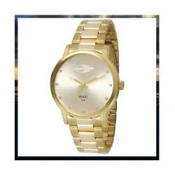 Relógio dourado feminino Mormaii